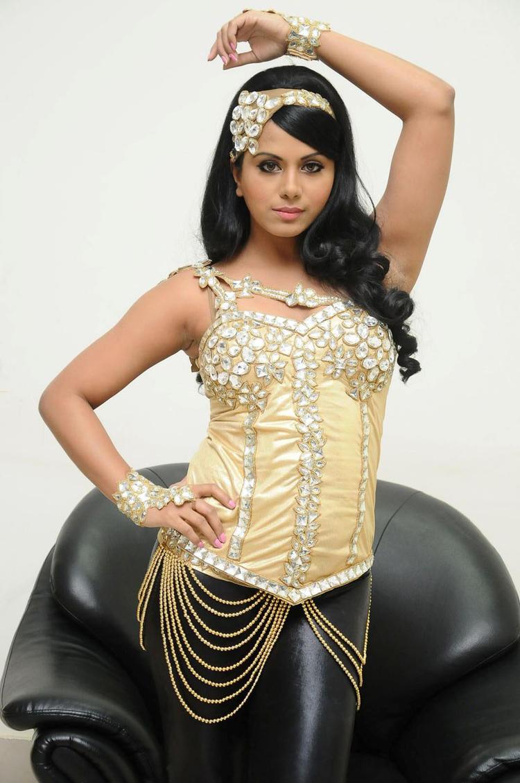 Rachana Mourya Spicy Hot Pose Photo Shoot at Rebel Audio Launch Event