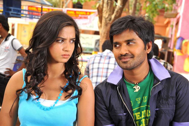 Dileep and Nisha Cute Pic In Oke Okka Chance Movie