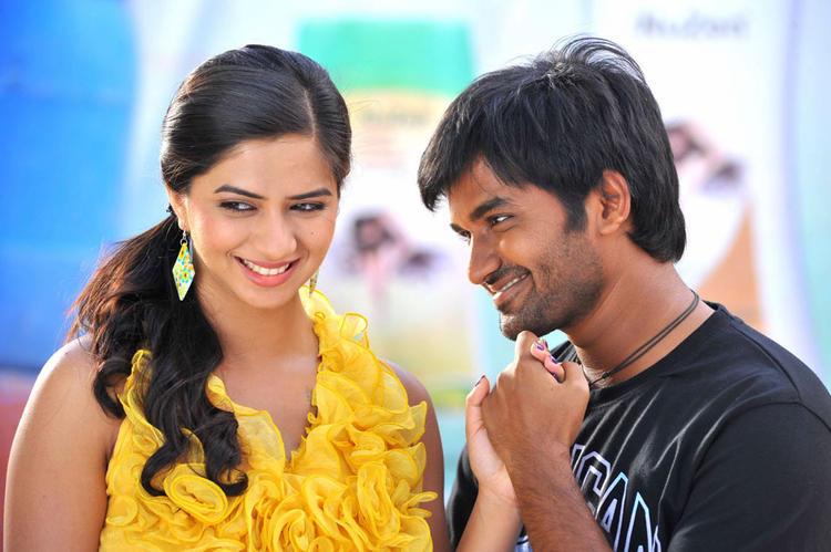 Dileep and Nisha Romantic Pic In Oke Okka Chance Movie