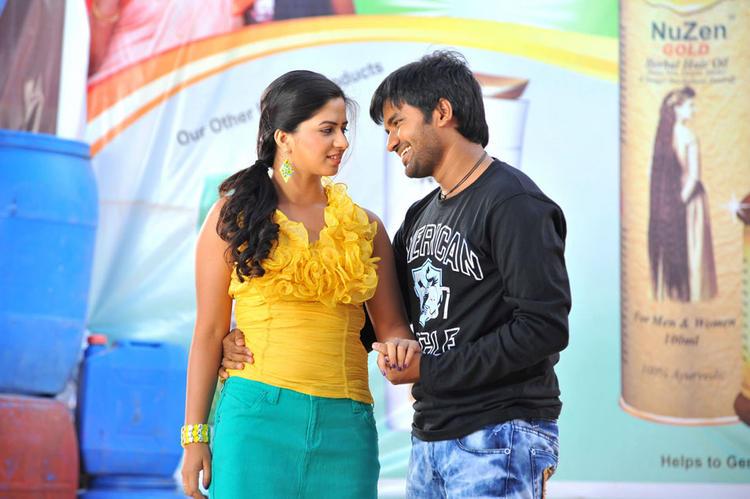 Dileep and Nisha Sizzling Sexy Photo In Oke Okka Chance Telugu Movie