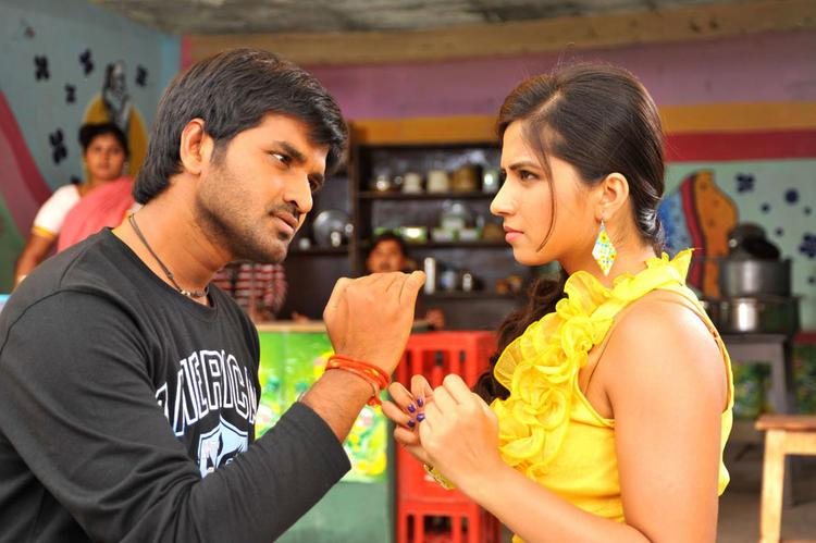 Dileep and Nisha A Still From The Movie Oke Okka Chance
