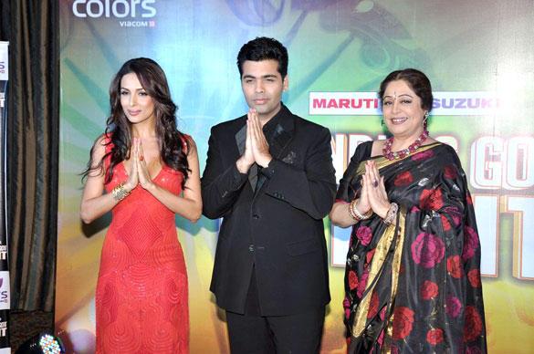 Judges Malaika,Karan and Kirron Launches India's Got Talent 2012