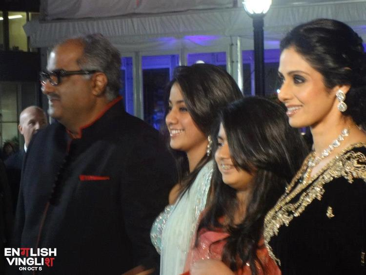 Sridevi With Her Daughters and Hubby at Toronto International Film Festival
