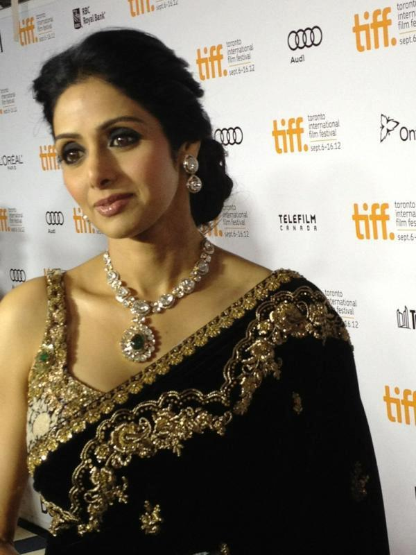 Sridevi Jewelry by Gehna Jewellers To The Toronto Interanational Film Festival