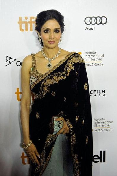Sridevi Kapoor Looking Hot In Saree at TIFF 2012