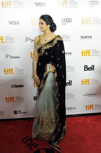 Sridevi Kapoor On Red Carpet at TIFF 2012 For English Vinglish Premiere