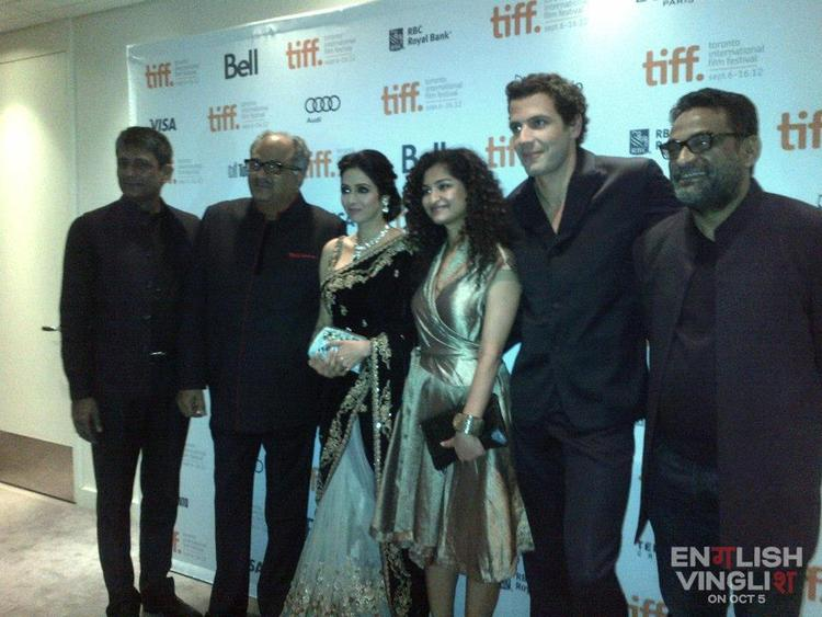 Sridevi Pose With Others at TIFF 2012 For English Vinglish