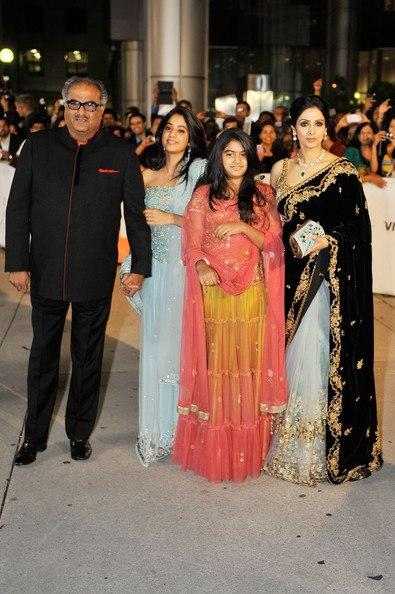 Sridevi Spotted With Family at TIFF 2012 For English Vinglish Premiere