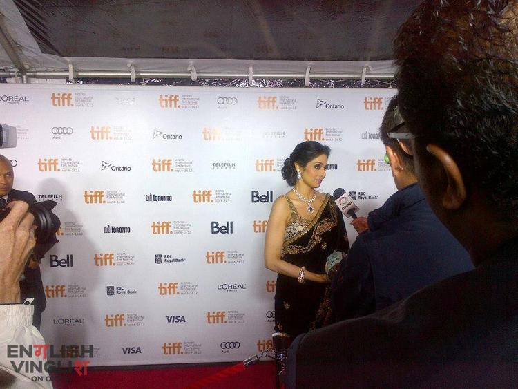 Sridevi Walks The Red Carpet at TIFF For English Vinglish