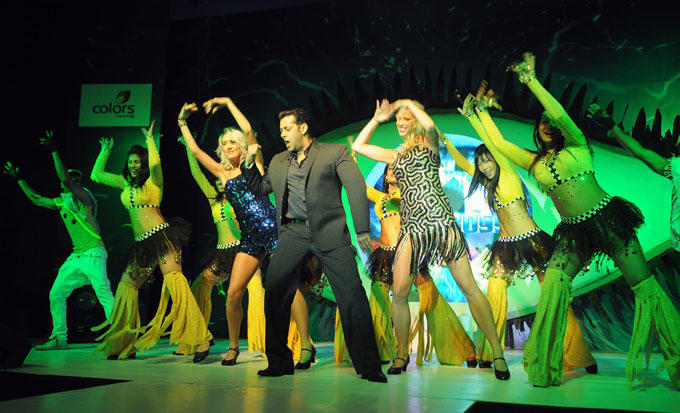 Salman Khan Performance Still During The Launch Of Bigg Boss Season 6