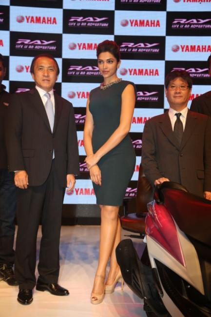 Deepika Latest Stills at The Launch of Yamaha Ray Scooter