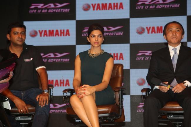 Deepika Padukone During The Launch of Yamaha Ray Scooter