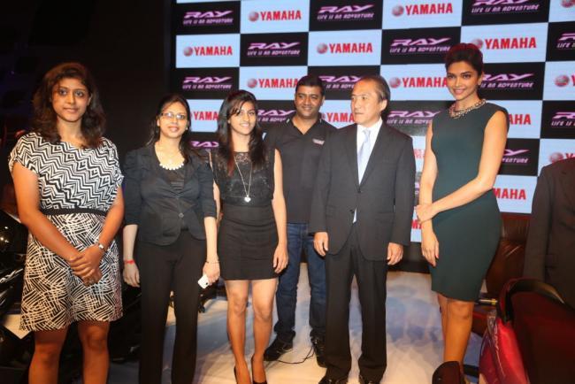 Deepika Padukone At Yamaha Ray Scooter Launch Event