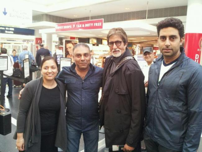 Abhishek and Amitabh In Chicago For Dhoom 3 Shooting