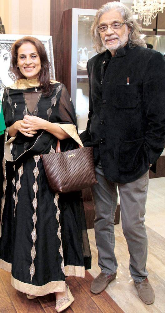 Meera and Muzaffar Ali at An Art and Jewellery Exhibition At The Store in Grand Hyatt