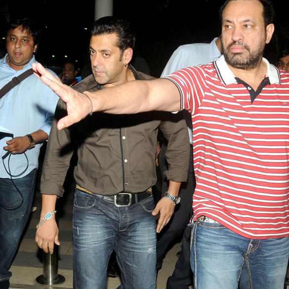 Bollywood Actor Salman Khan Snapped at Domestic Airport