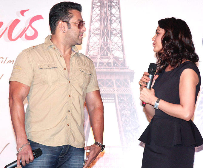 Preity and Salman At The Music Launch Of Ishkq In Paris Movie