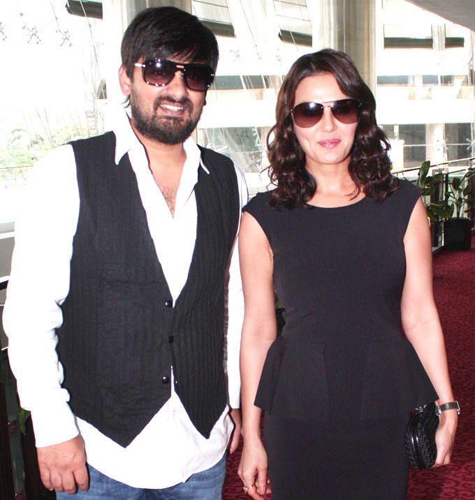 Preity Zinta and Wajid Spotted at Ishkq In Paris Music Launch Event