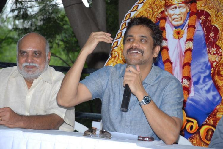 Nagarjuna Speaks During Shirdi Sai Movie Success Meet Event