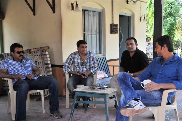 Superstar Mahesh Babu and Venkatesh SVSC New Working Still