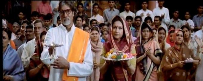 Amitabh Bachchan Still In Shree Ganeshaya Dheemahi Song In Viruddh