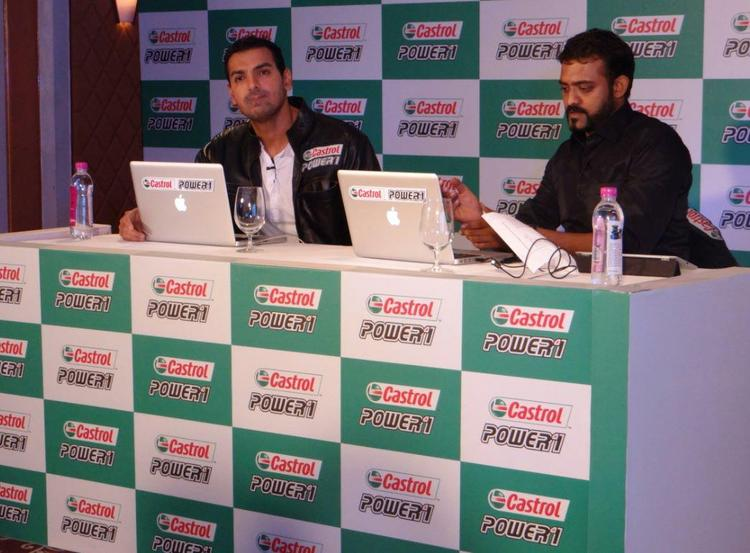 John Abraham at Castrol Biking Event