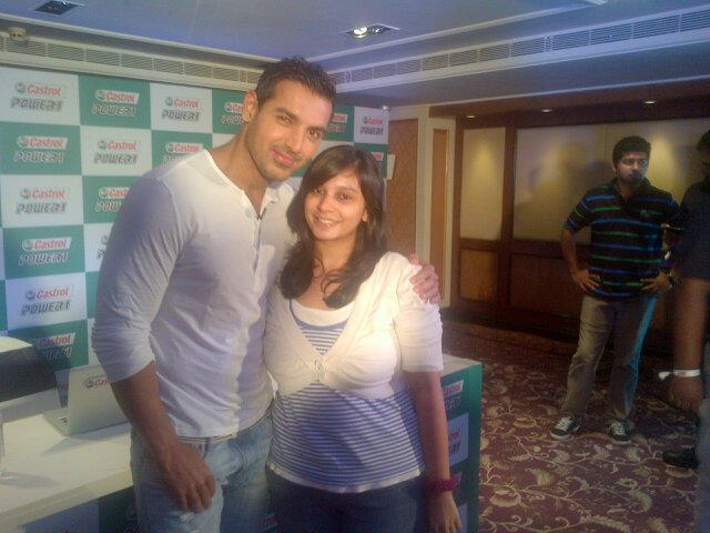 John Abraham Pose During Castrol Biking Event