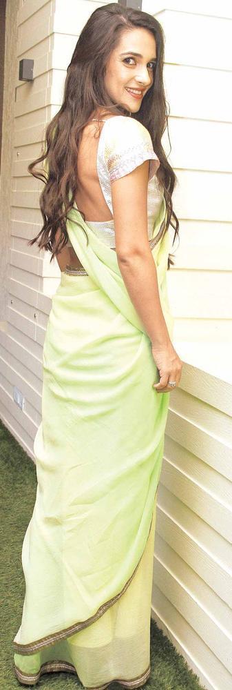 Tara Sharma Looks Pretty In A Saree