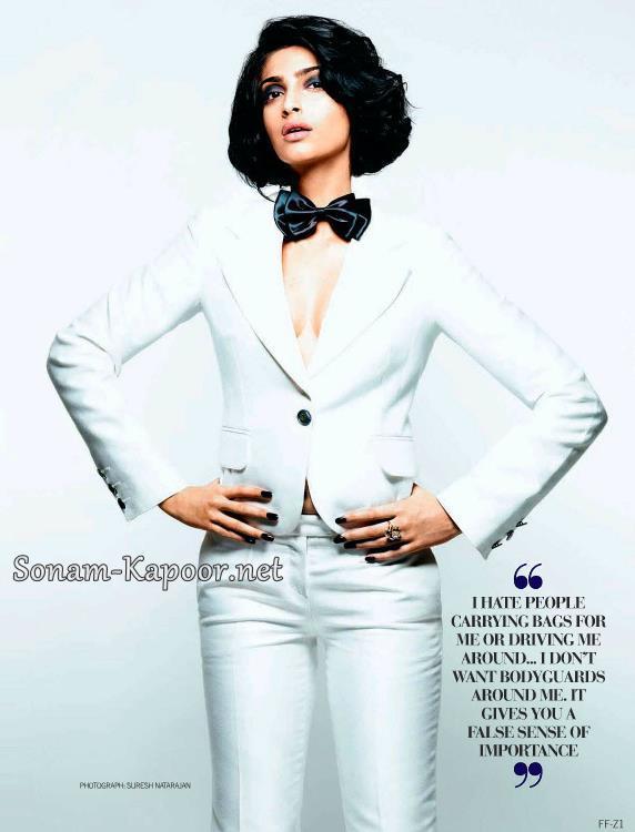Sonam Kapoor Latest Shoot For Filmfare September