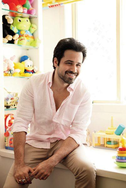 Emraan Hashmi Smiling Pic at His Home