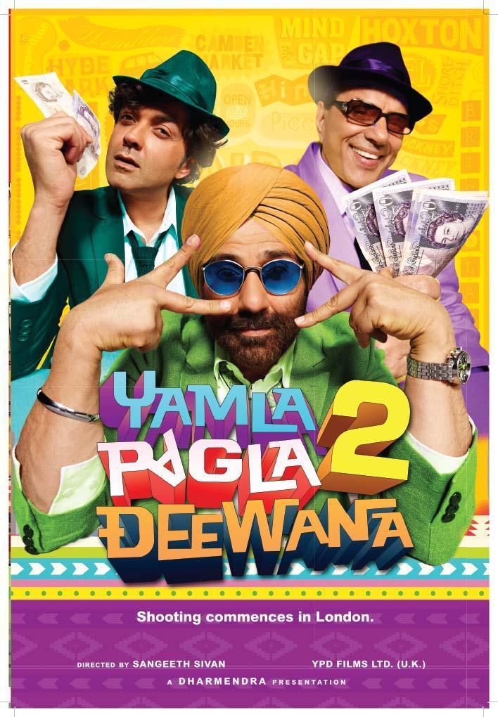 Sunny,Bobby and Dharmendra In Yamla Pagla Deewana 2 Exclusive Poster