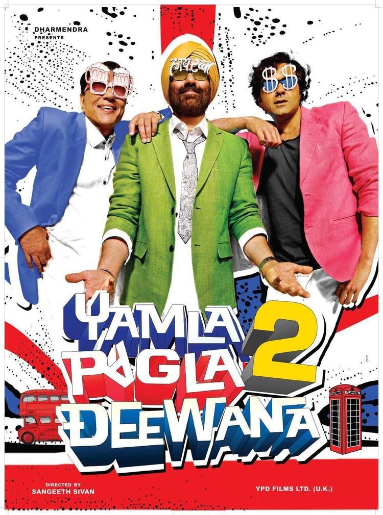 Sunny,Bobby and Dharmendra Yamla Pagla Deewana 2 Latest Wallpaper