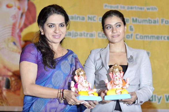 Shaina NC and Kajol Devgan Launches Times Green Ganesha