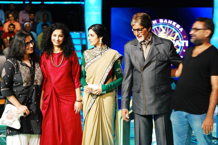 English Vinglish Promotional Event On The Sets Of KBC 6