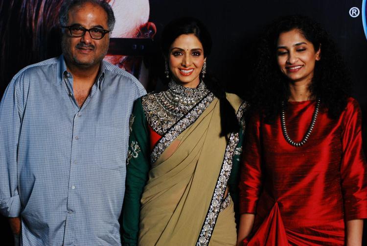 Gauri,Sridevi and Boney On The Sets Of KBC 6 For English Vinglish Promotion