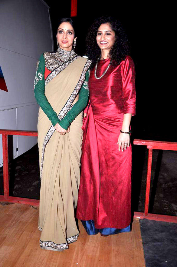 Sridevi and Gauri at KBC 6 For English Vinglish Promotion