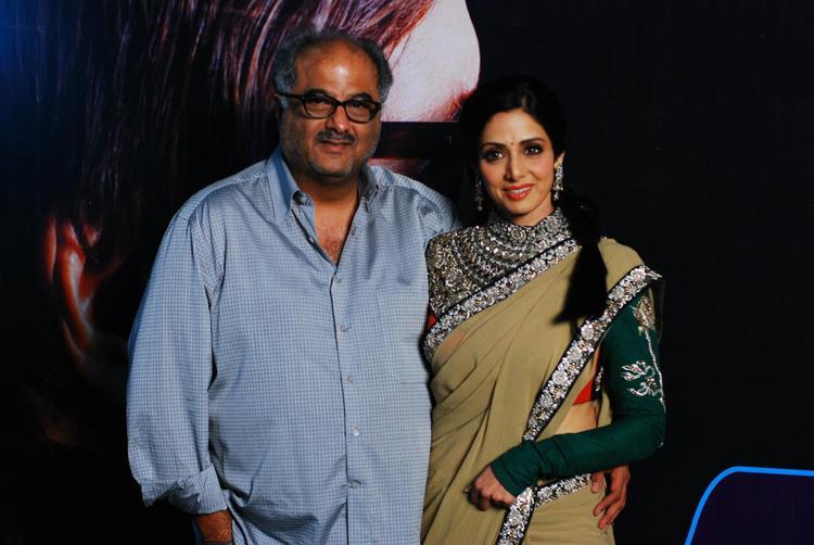 Sridevi With Boney To Promote English Vinglish at KBC 6