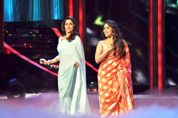 Rani and Madhuri Dance Still at Jhalak Dikhhla Jaa Reality Show