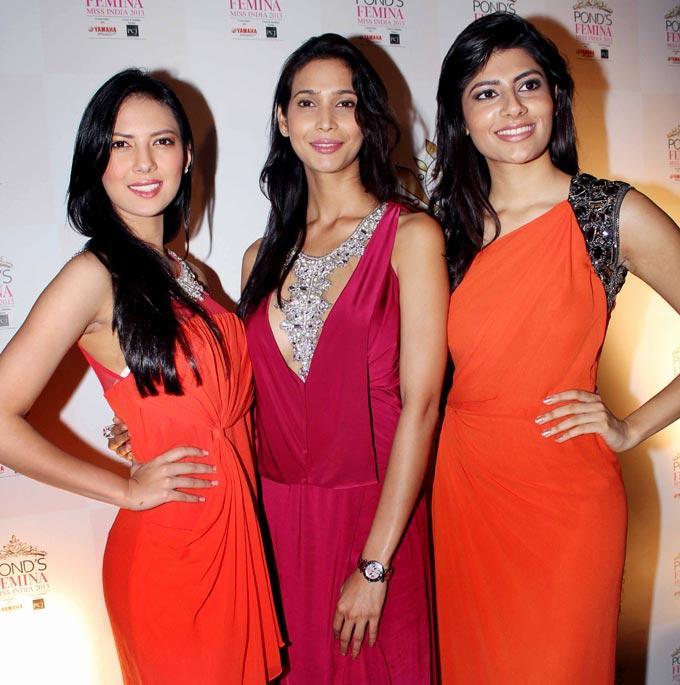Rochelle,Prachi and Vanya at Ponds Femina Miss India's 50 Years Celebrations