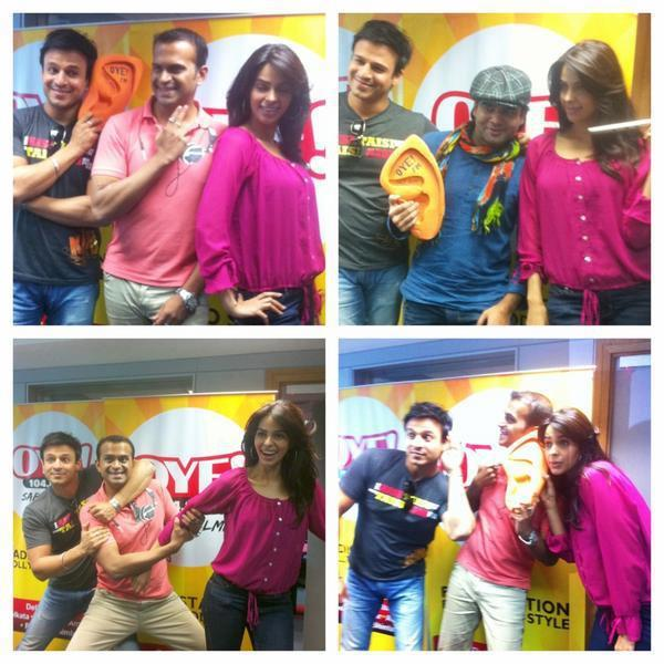 Mallika and Vivek Latest Pics at OYE 104.8 FM For KLPD Promotion