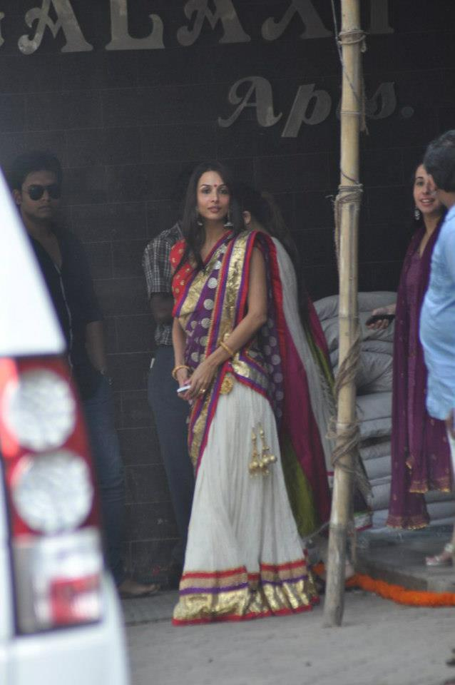 Malaika Arora at Salman Khan Residence For Ganesh Pooja