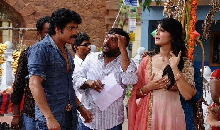 Nagarjuna's Damarukam Movie Working Still