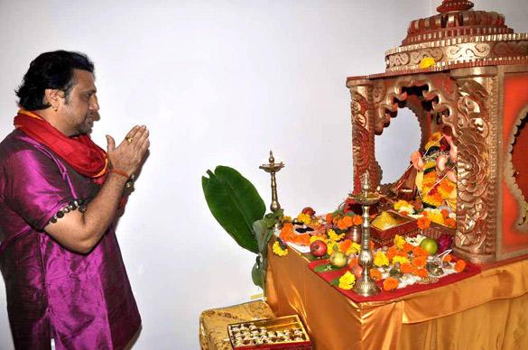 Govinda Celebrating Ganesh Chaturthi at His Residence