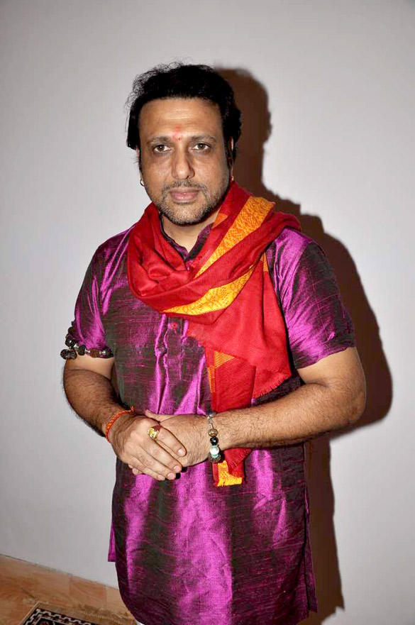Govinda at His Home To Celebrate Ganesh Chaturthi