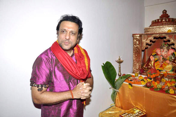 Govinda Welcome The Ganesh Idol in His Residence