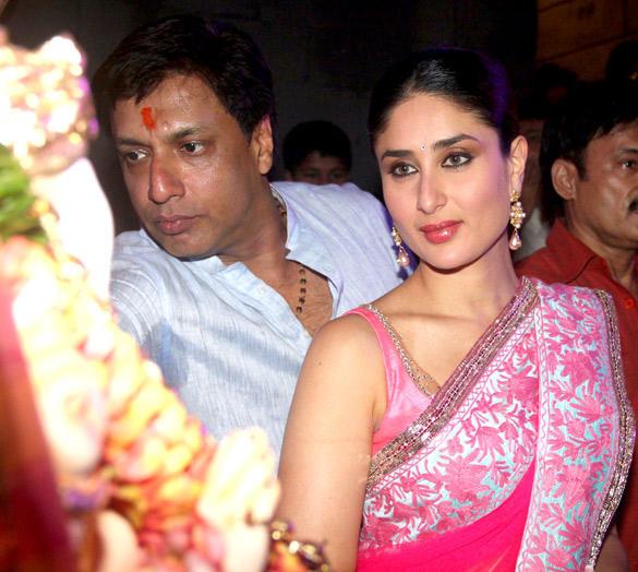Gorgeous Kareena and Madhur Promote Heroine at Ganesh Festival In Mumbai
