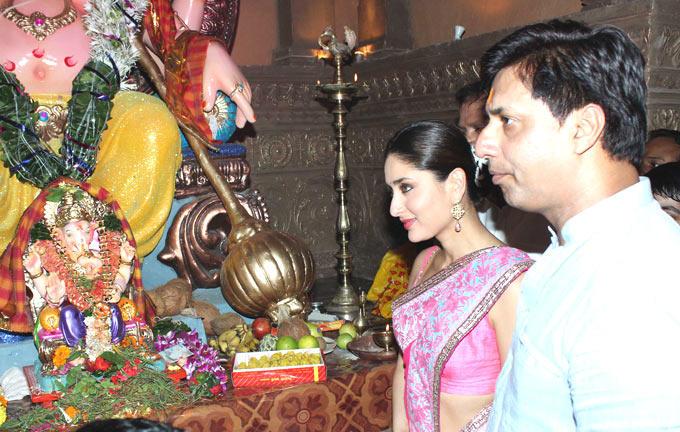 Kareena and Director Madhur Bhandarkar Seek Blessings From The Lord Ganesha