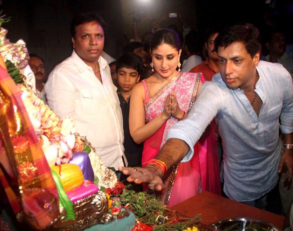Kareena and Madhur at Ganesha Pandal To Promote Upcoming Movie Heroine