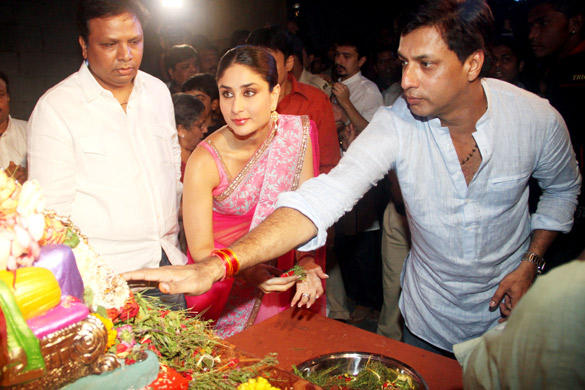 Kareena Kapoor And Madhur At Ganpati Darshan
