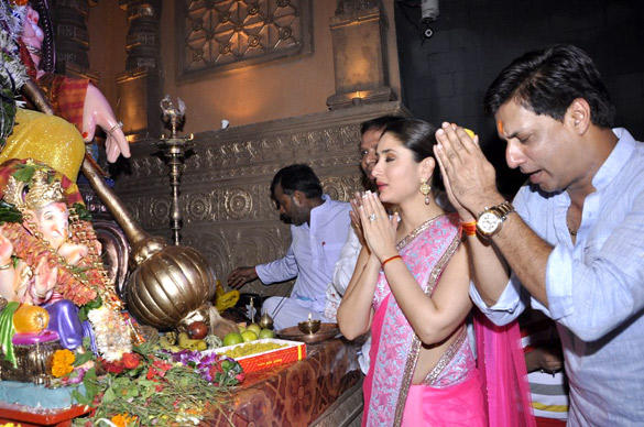 Madhur and Kareena at Ganesh Chaturthi Celebrations To Promote Heroine
